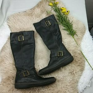 Sonoma Knee High Black Woman Pair of Boots SZ 7